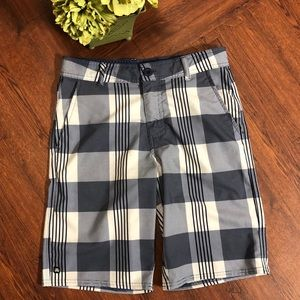 Boys Micros Swim Trunks Shorts Blue White Size 12